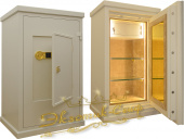 Сейфы Сейф EXOTIC-SAFE GARANT-120 EL Wood White Enamel Gold + mirror в интернет-магазине Safe1.ru